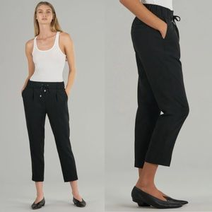 ATM Micro Twill Pull-On Trouser Pant Black L NWT